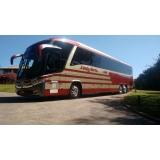locação de ônibus para viagem valor Água Branca